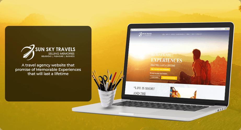 Website Design - Sun Sky Travels